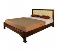 Кровать Омега прямая с мягкой вставкой
